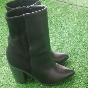 Black leather & Suede shoe boots